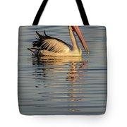 Pelican At Sunset 1 Tote Bag