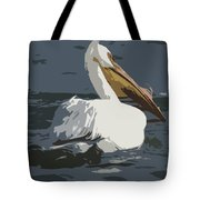 Pelican Cut Out Tote Bag