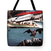 Pelican Drying Wings Tote Bag