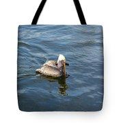 Pelican Eating Dinner Tote Bag