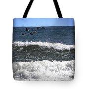 Pelican Flight   Tote Bag