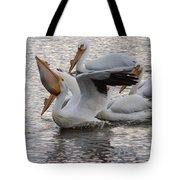 Pelican Having Supper Tote Bag