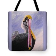 Pelican Head Tote Bag