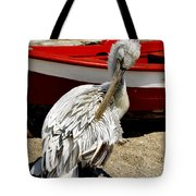 Pelican In Mykonos II Tote Bag