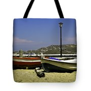 Pelican In Mykonos Tote Bag