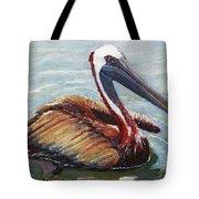 Pelican In The Water Tote Bag