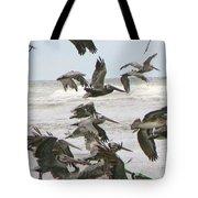Pelican Migration  Tote Bag