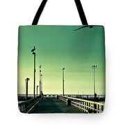 Pelican On Watch Duty Tote Bag