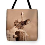Pelican Perch Tote Bag