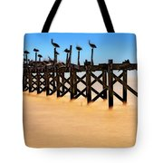 Pelican Pier Near Pass Christian - Mississippi Tote Bag