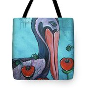 Pelican Poppies 1 Tote Bag