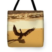 Pelican Spreads It's Wings Tote Bag