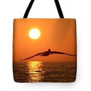 Pelican Sunset Tote Bag