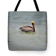 Pelican Swimming  Tote Bag