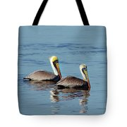 Pelicans 2 Together Tote Bag