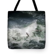 Pelicans And Surf Tote Bag