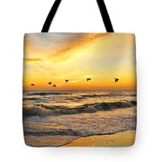 Pelicans At Sunrise  Signed 4651b 2  Tote Bag