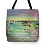 Pelicans Fly Psalm 139 Tote Bag