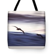 Pelicans Ocean Flight In La Jolla Tote Bag