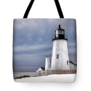 Pemaquid Point Lighthouse In Winter Tote Bag