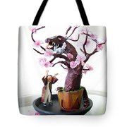 Pen-jing Dragon Plum Tree Tote Bag