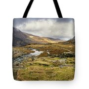 Pen Yr Ole Wen And Tryfan Mountain Tote Bag