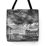 Penarth Pier Morning Light 1 Mono Tote Bag
