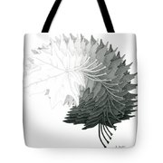 Pencil Drawing Of Maple Leaves Tote Bag