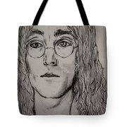 Pencil Portrait Of John Lennon  Tote Bag