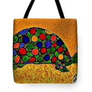 Pencil Sketch And Water Color Turtle Of The Rainbow Tote Bag