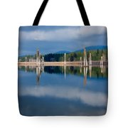 Pend Oreille River Pilings Tote Bag