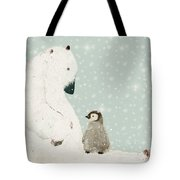 Penguin And Bear Tote Bag