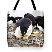 Penguin And Her Egg Tote Bag