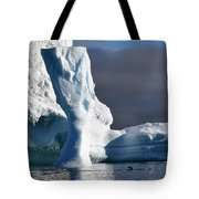 Penguin And Ice Tote Bag