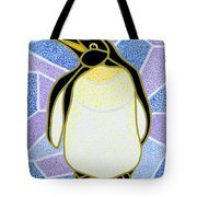Penguin On Stained Glass Tote Bag