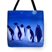 Penguins On A Night Out.sold Tote Bag