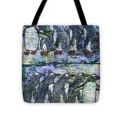 Penguins On Parade Tote Bag