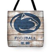 Penn State // Football // Distressed Wood Tote Bag