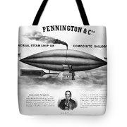 Penningtons Airship, 1850 Tote Bag
