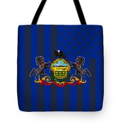 Pennsylvania State Flag Graphic Usa Styling Tote Bag