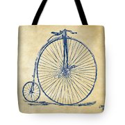 Penny-farthing 1867 High Wheeler Bicycle Vintage Tote Bag by Nikki Marie Smith