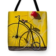 Penny Farthing Love Tote Bag