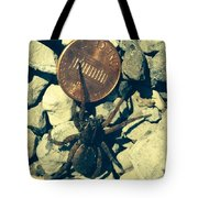 Penny Pinching Spider Tote Bag