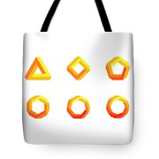 Penrose Triangle And Polygons Colored Tote Bag