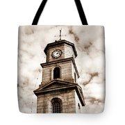 Penryn Clock Tower In Sepia Tote Bag