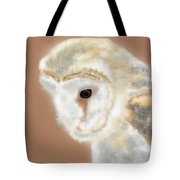 Pensive Barn Owl Tote Bag