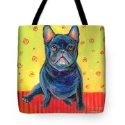 Pensive French Bulldog Painting Prints Tote Bag