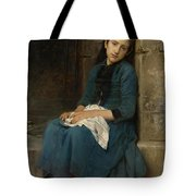 Pensive Girl. Innocence Tote Bag