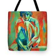 Pensive Male Figure Tote Bag