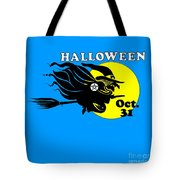 Pentacle Halloween Witch Tote Bag